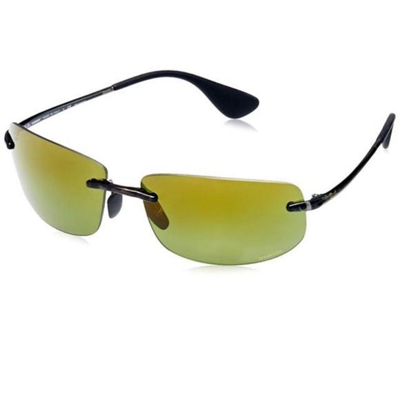 a26210c1ad42 Ray-Ban Sunglasses Black w Green Mirrored Lens